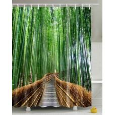 Duschvorhang Bambuswald