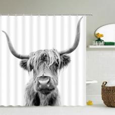 Duschvorhang Kuh
