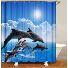 Duschvorhang Delfine