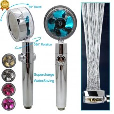 Duschkopf 360 Grad Wasserstopp-Knopf 5 Farben